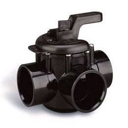 3-Port Pentair 2 Socket x 2-1/2 Spigot CPVC Valve - Multiport Valves