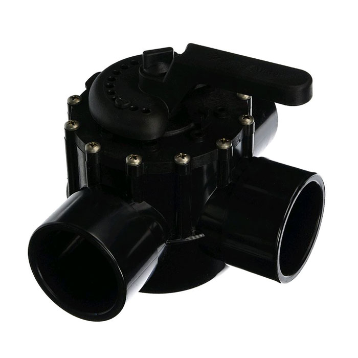 3-Port Pentair 2-1/2 Socket x 3 Spigot CPVC Valve - Multiport Valves