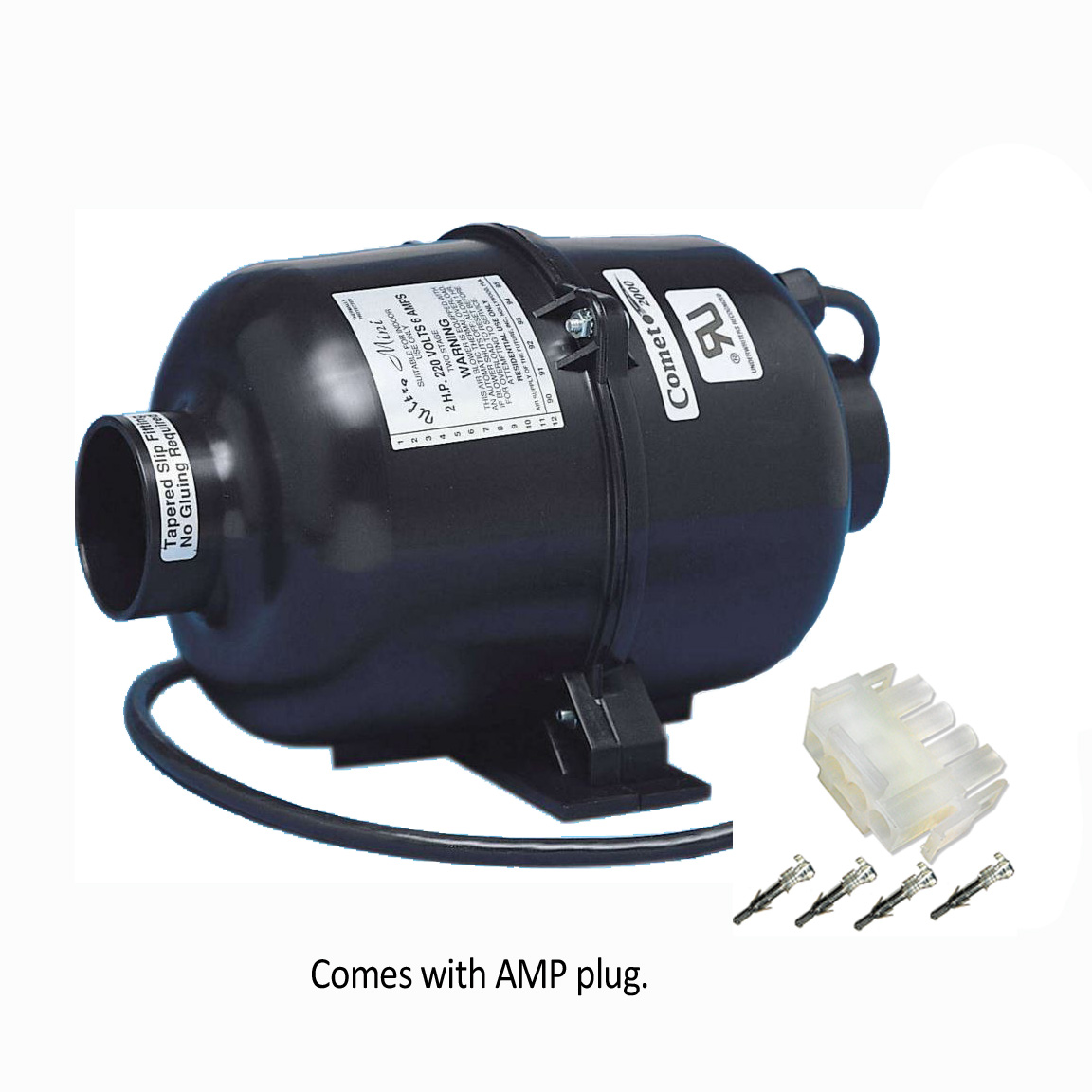 Air Supply Comet 2000 Portable Spa Blower 1HP 120V - 3210120 / 3210131 - Blowers