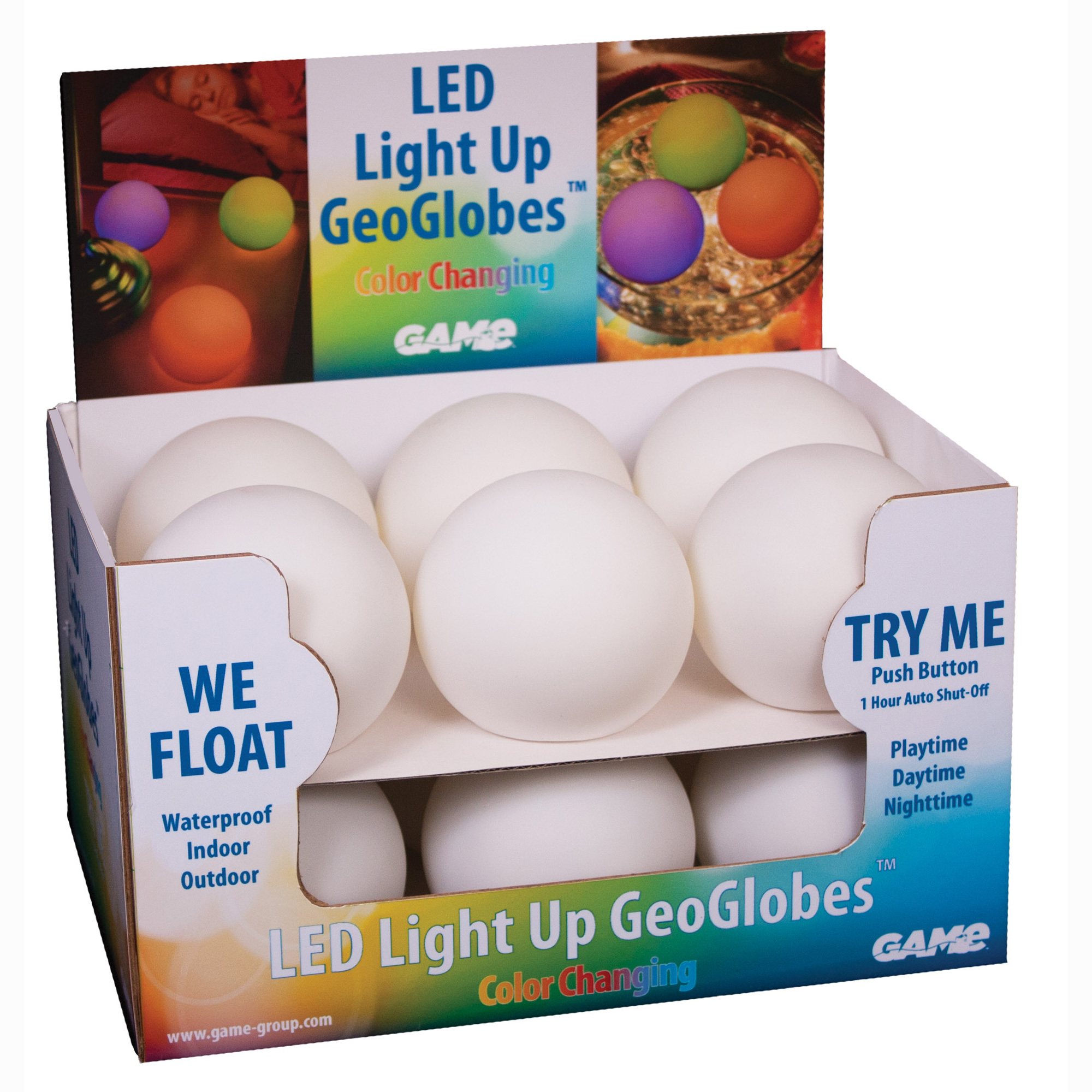 LED LIGHT UP GEOGLOBES - GAME Products