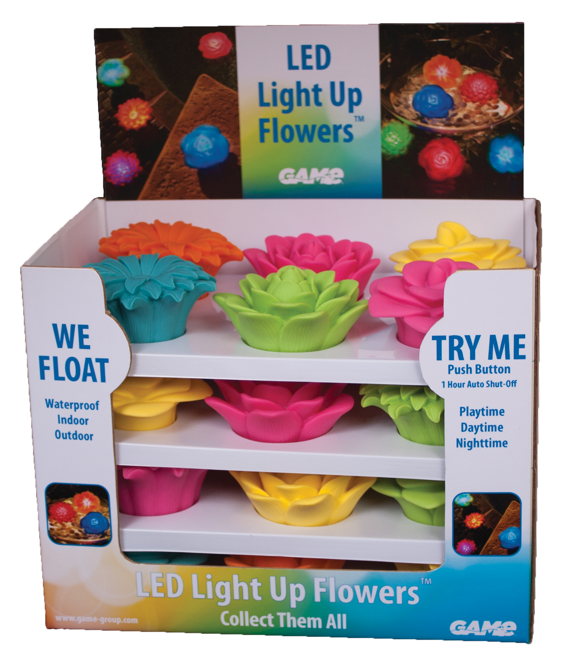 LED LIGHT UP FLOWERS - GAME Products