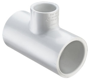 3/4x3/4x1/2 Tee-Reducing PVC Schedule 40 - All Fittings, Schedule 40 - Filtered By Attribute