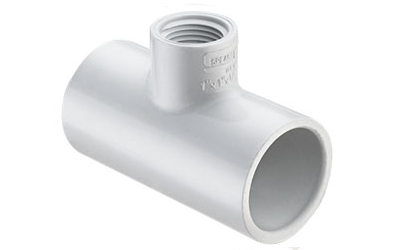 3/4X3/4X1/2 Tee Socket x FIPT PVC Schedule 40 - Tee Slip X Slip X Thread, Reducing