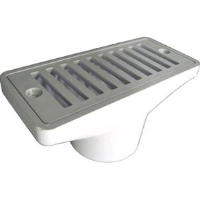 DRAIN GUTTER W/GRATE WHT - Equalizers, Suction Covers & Grates