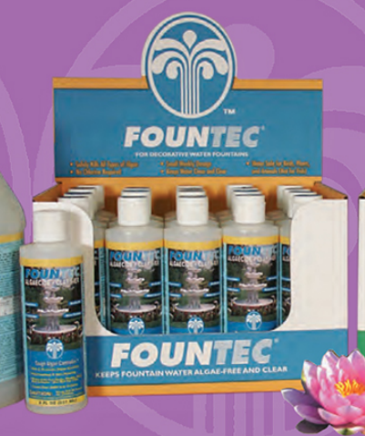 Fountec® Green Algae Remover 8oz Bottle - Case of 20 - Algaecides