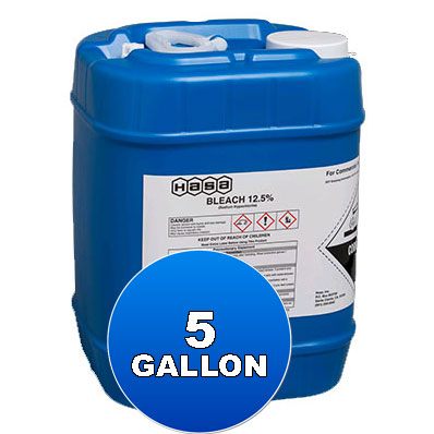 5 Gallon Liquid Chlorine 12.5%, Hasa - Bulk Chemicals