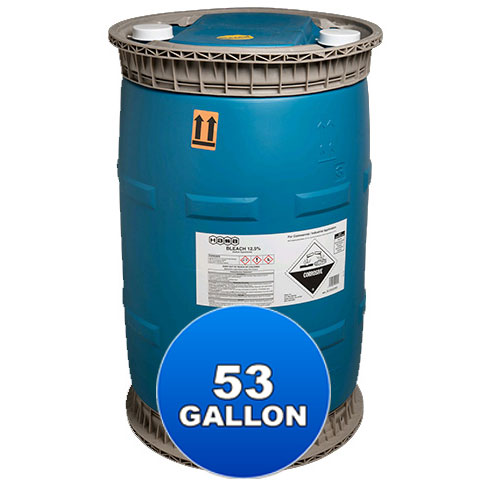 53 Gallon Liquid Chlorine 12.5%, Hasa - Bulk Chemicals