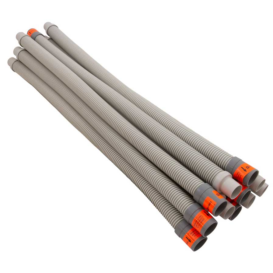 LEADER HOSE 1M LT GREY(12 PK) - Replacement Hose