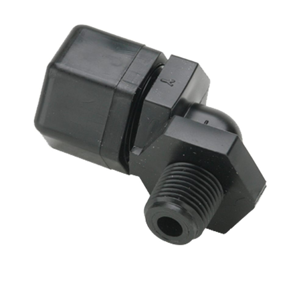 Fast-Tite Elbow 3/8 OD X 1/2 MPT - Tube Fittings, Male Elbow Connectors