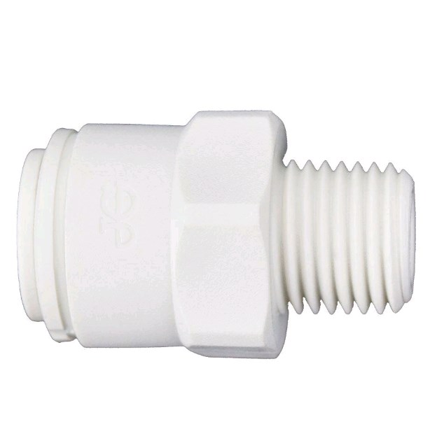 Male Adapter 3/8 OD X 1/4 MPT John Guest - PP011222W - Quick Connect Male Adapter