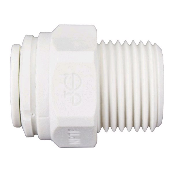 Male Adapter 3/8 OD X 3/8 MPT John Guest - PP011223W - Quick Connect Male Adapter