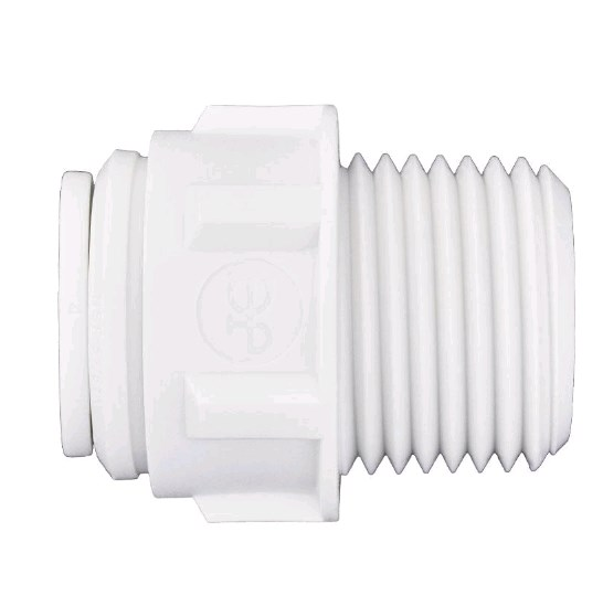Male Adapter 1/2 OD X 1/2 MPT John Guest - PP011624W - Quick Connect Male Adapter