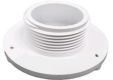 4 BULKHEAD 1-1/2 MPT WHITE - Suction Fitting