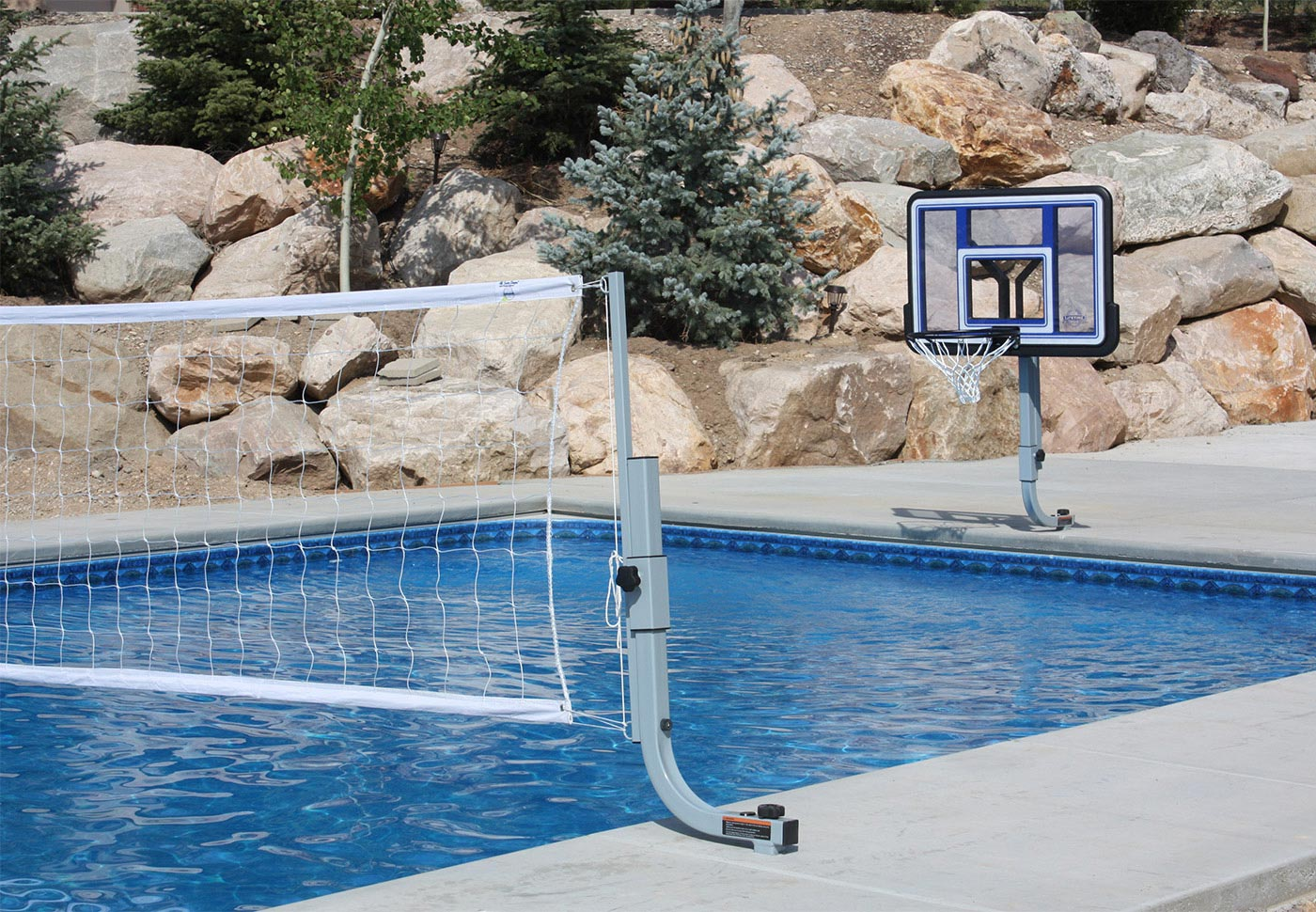 BASKET VOLLEY COMBO - With In-Deck Anchor System BOXES  B, B, C, D, E, G, G - SwimShape