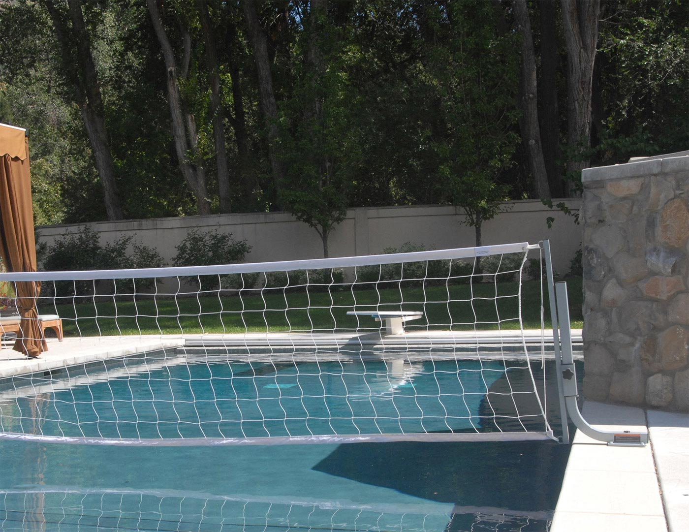 QuikSpike Pool Volleyball With On-Deck Anchor System BOXES A, A, E - SwimShape