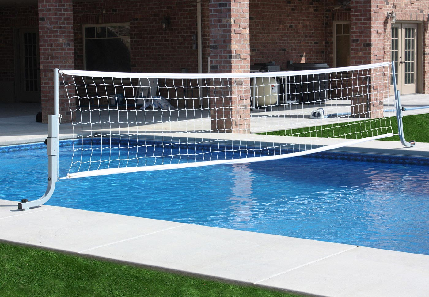 QuikSpike Pool Volleyball With In-Deck Anchor System BOXES B, B, E, G, G - SwimShape