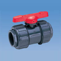 1/2 PVC EPDM True Union Socket/Thread Duo-Bloc 21 Ball Valve - All Valves By Attribute