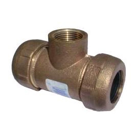 3/4 x 3/4 Brass Compression x Female Pipe Thread Tee - 4428