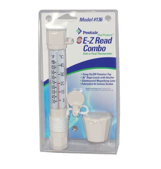 THERMOMETER,EZ READ-WHITE - Thermometers