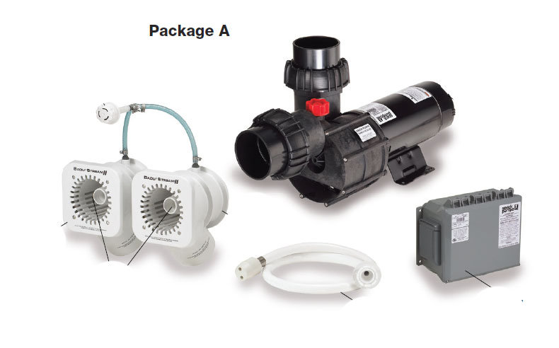 Package A - 2 Jet w/4HP Pump
