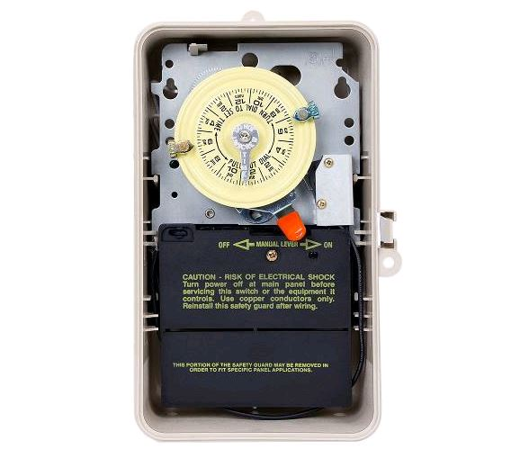 Intermatic Timer w/Fireman Switch 208V - T104P-201